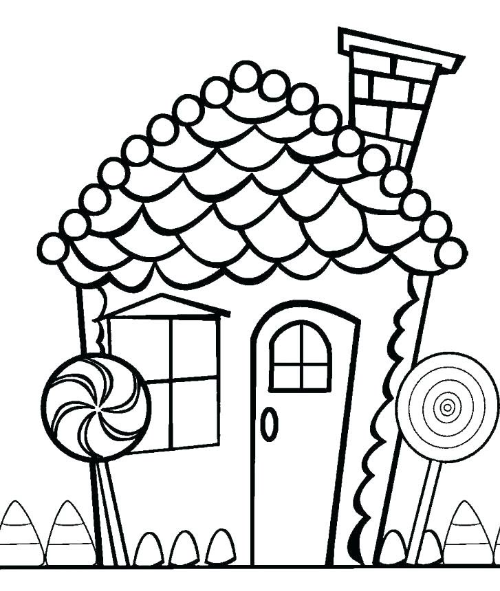 Tranh tập tô màu ngôi nhà cho bé