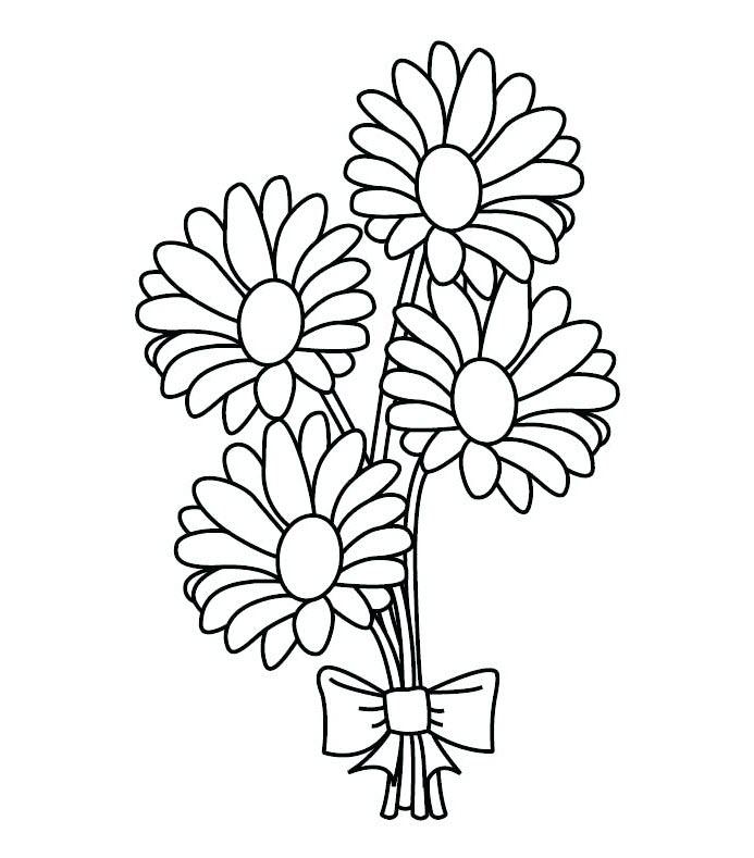 Tranh tô màu bó hoa đẹp nhất