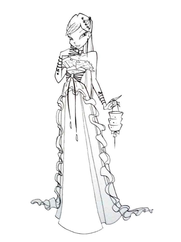 Tranh tô màu công chúa phép thuật Winx đẹp