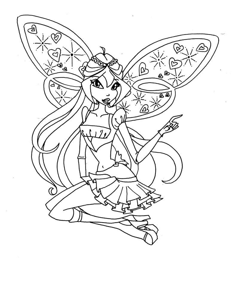 Tranh tô màu công chúa phép thuật Winx