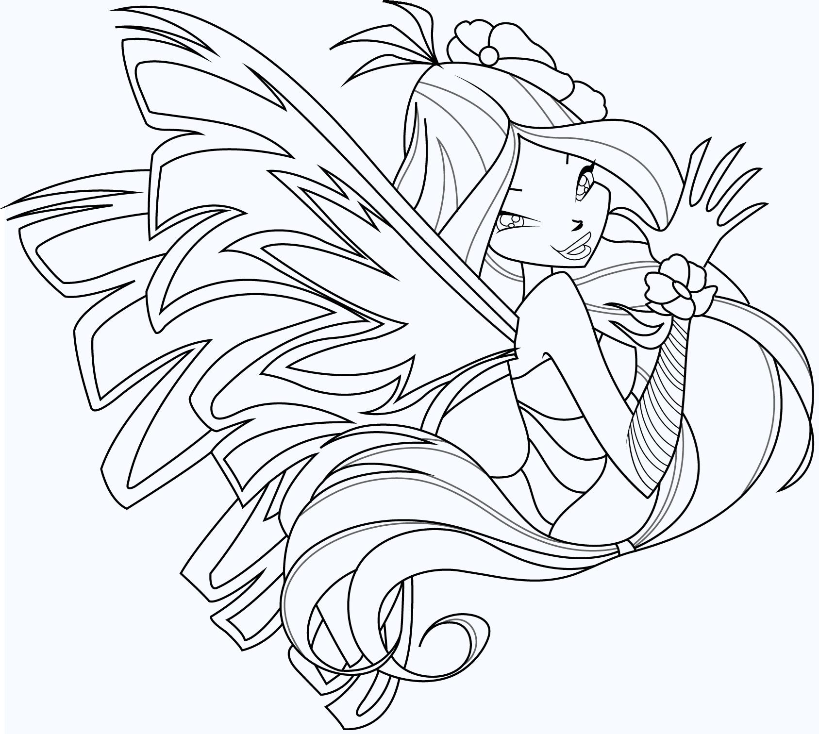 Tranh tô màu công chúa Winx đẹp
