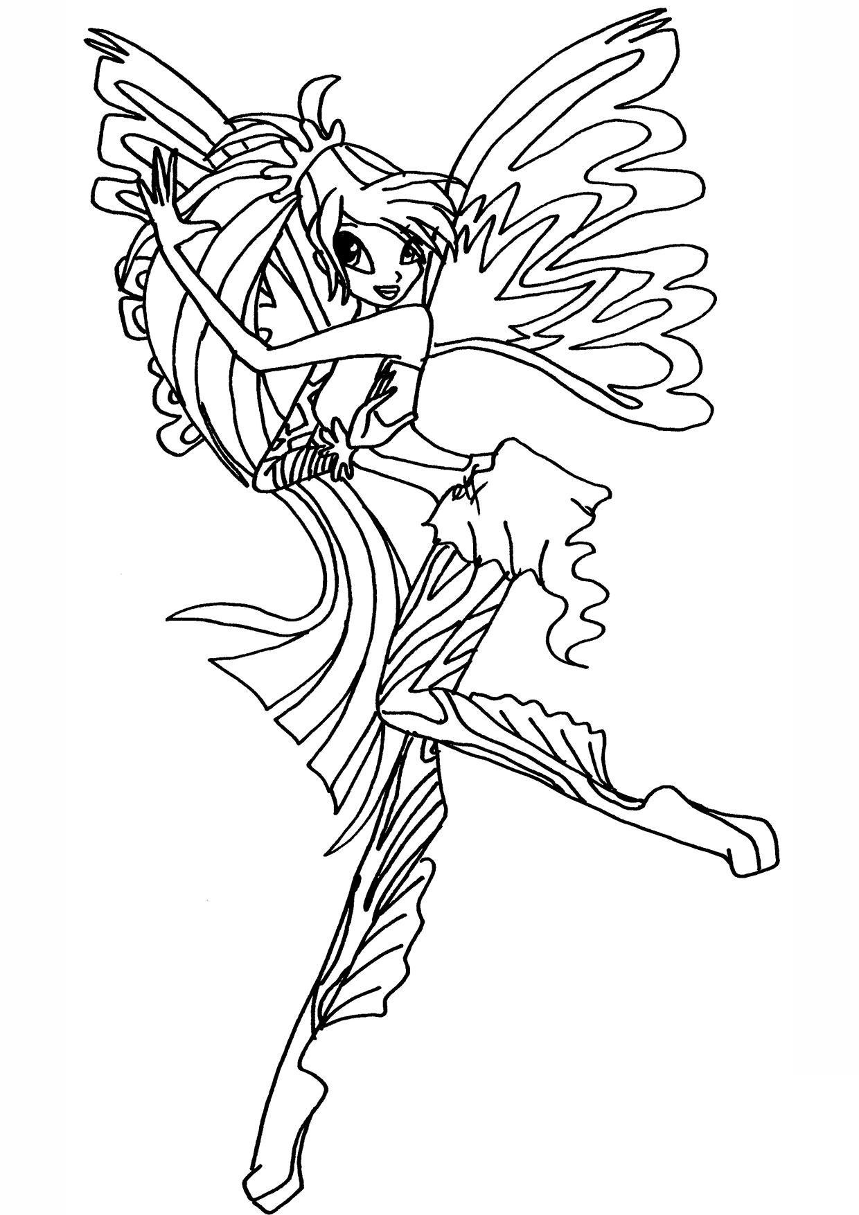 Tranh tô màu công chúa Winx