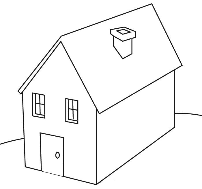 Tranh tô màu hình ngôi nhà đẹp (2)