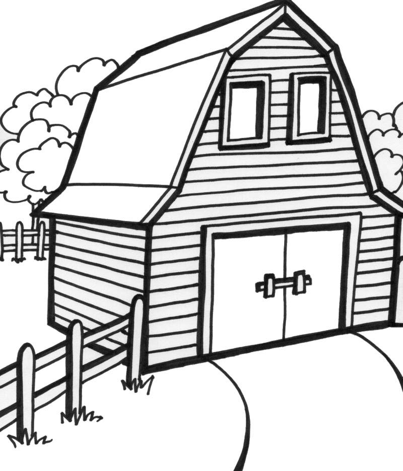 Tranh tô màu hình ngôi nhà