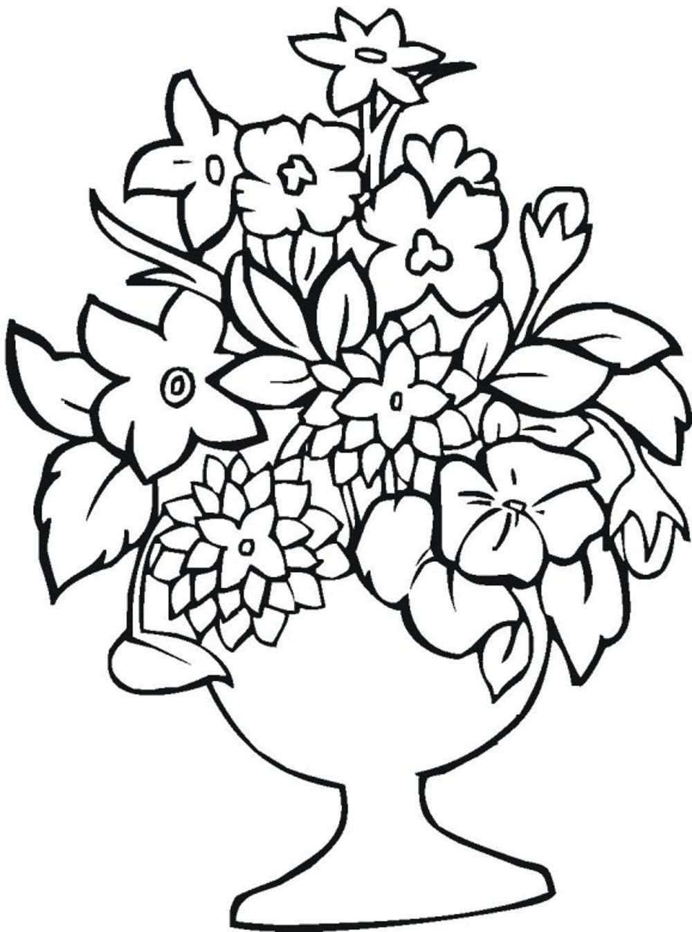 Tranh tô màu lọ hoa đẹp (2)