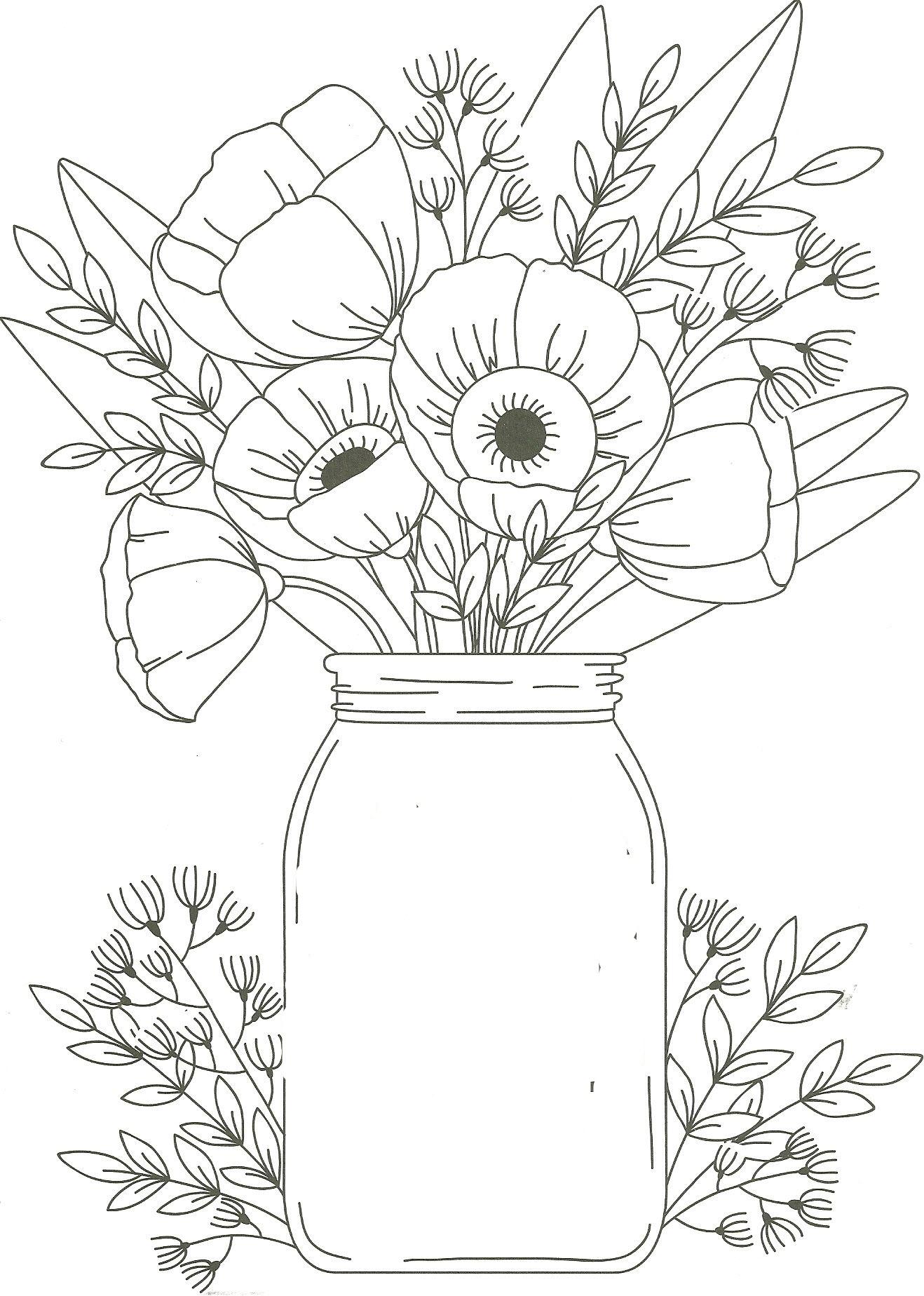 Tranh tô màu lọ hoa đẹp nhất