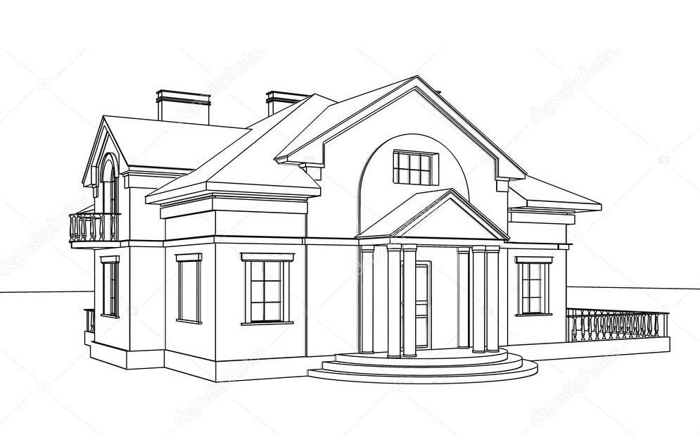 Tranh tô màu ngôi nhà cho trẻ mẫu giáo