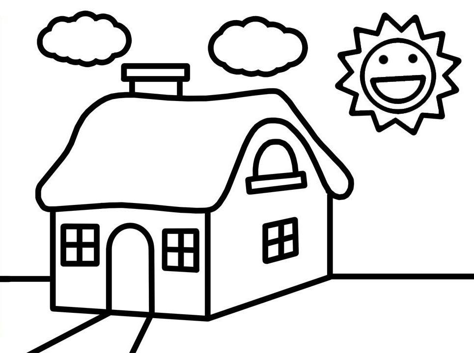 Tranh tô màu ngôi nhà đẹp nhất (2)
