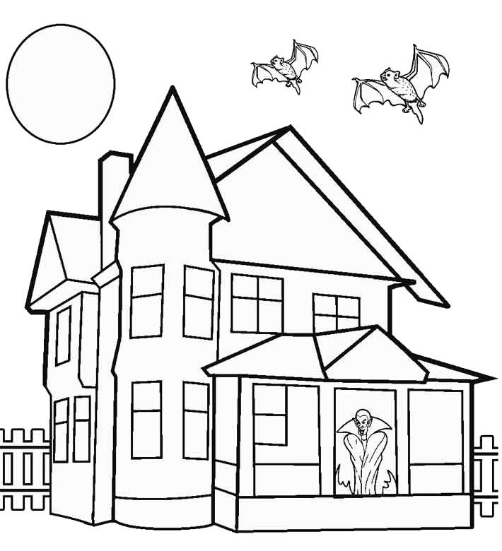 Tranh tô màu ngôi nhà gia đình