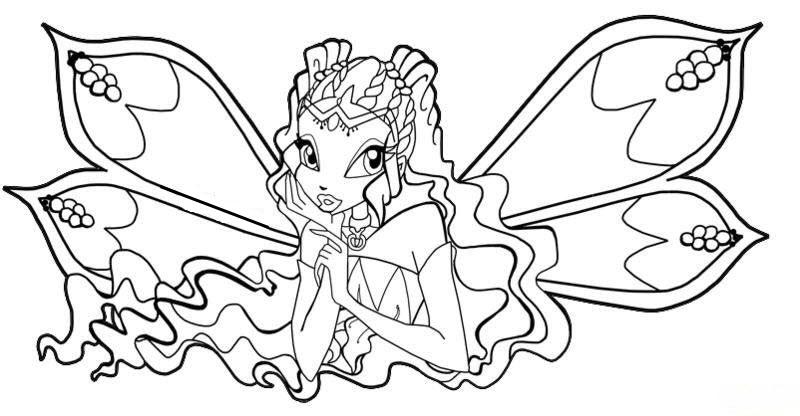 Tranh tô màu Winx công chúa phép thuật