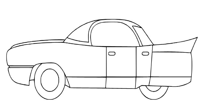 Hình ảnh ô tô cho bé tô màu