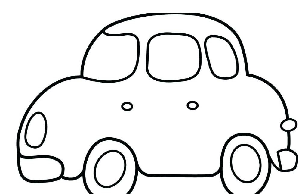 Hình ô tô cho bé tô màu