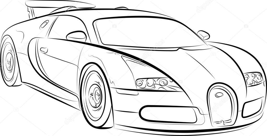 Hình ô tô cho các bé tập tô
