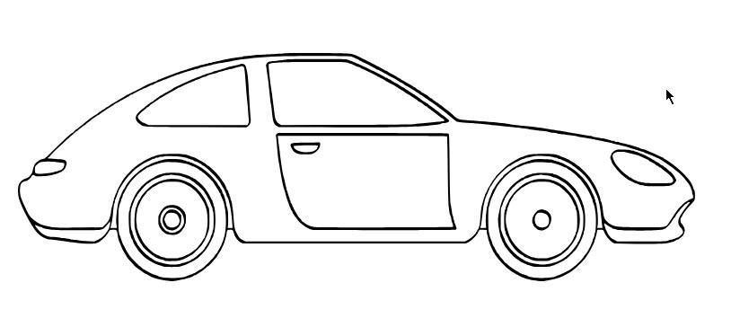Hình ô tô để tô màu