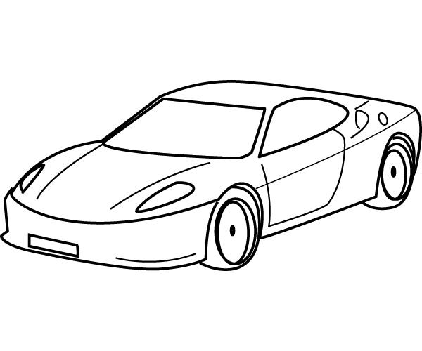 Hình ô tô đơn giản cho bé tập tô