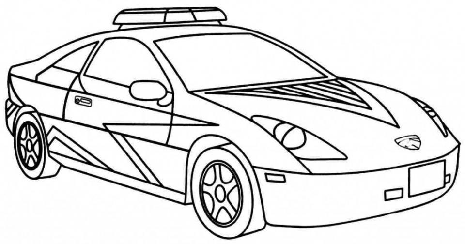 Hình tô màu ô tô cho bé tập tô