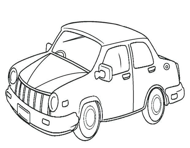 Hình tô màu ô tô cho bé