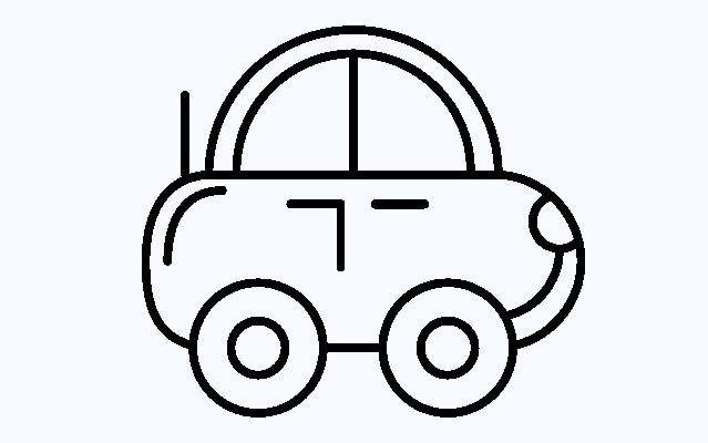 Hình tô màu ô tô đơn giản cho bé