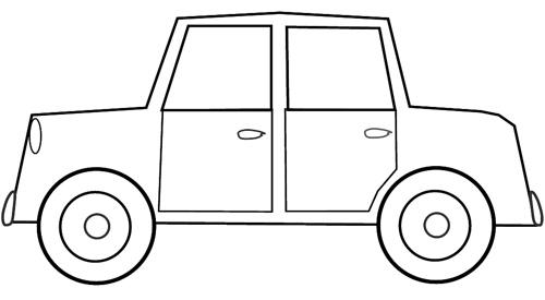 Hình tô màu ô tô đơn giản