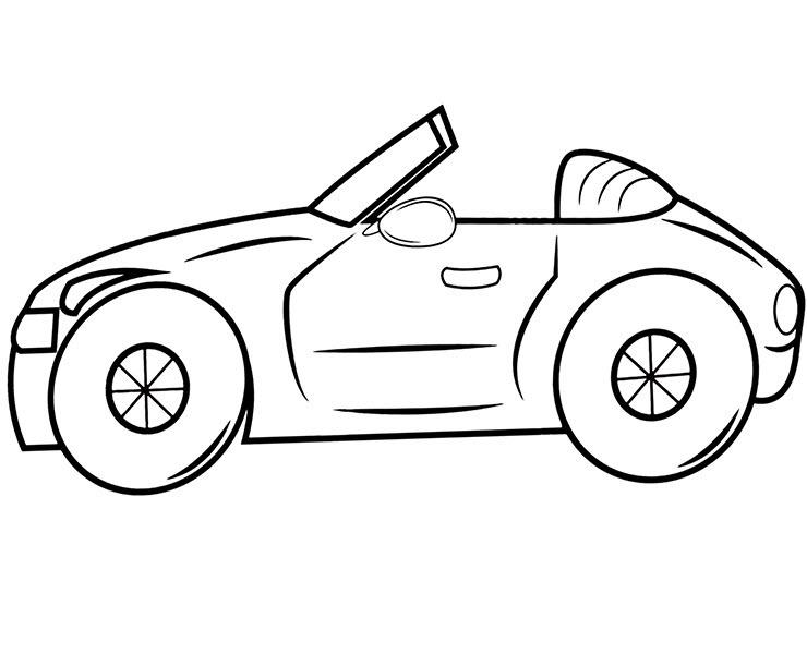 Hình tô màu ô tô