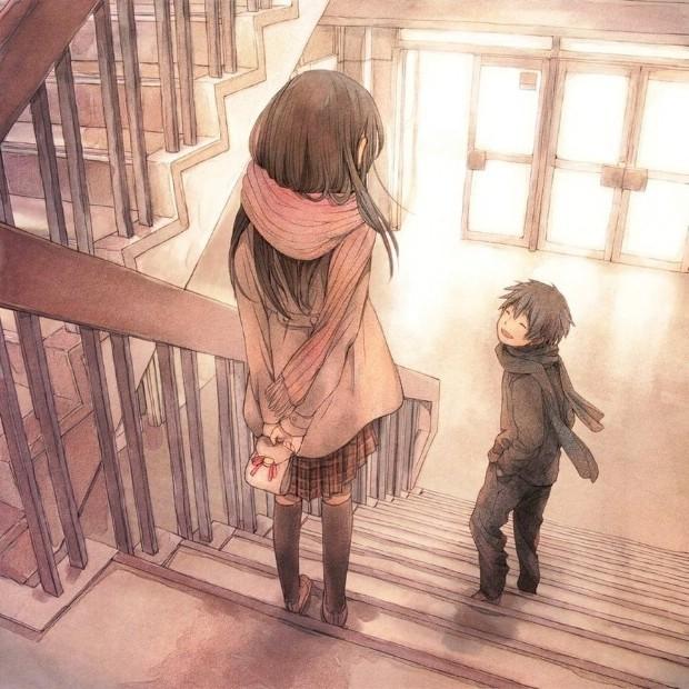 Hình vẽ anime dễ thương