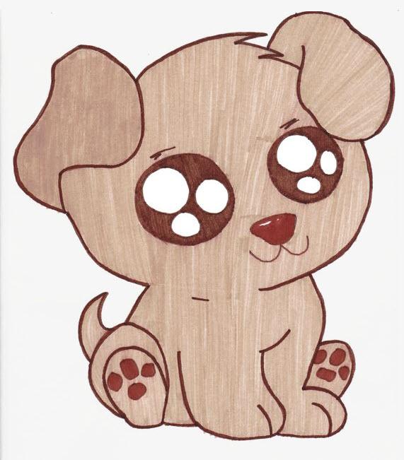 Hình vẽ chú chó dễ thương