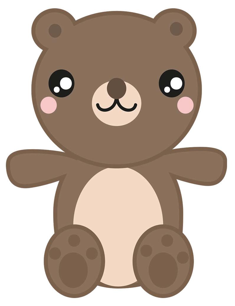 Hình vẽ chú gấu dễ thương