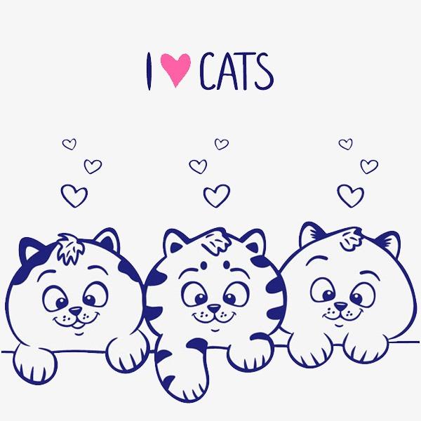 Hình vẽ chú mèo dễ thương
