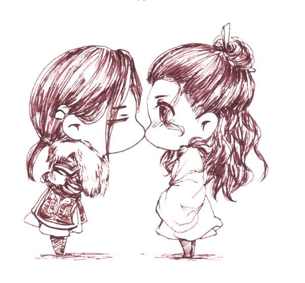 Hình vẽ dễ thương về tình bạn