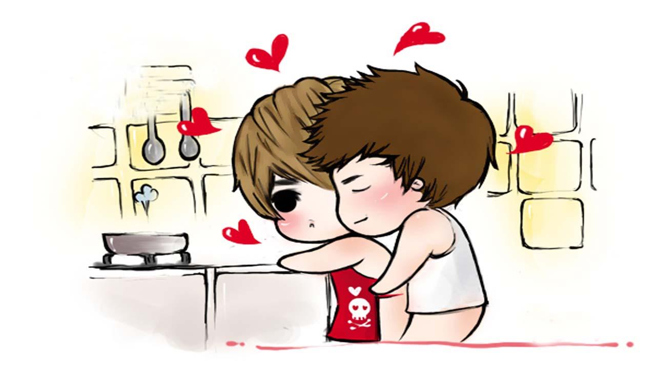 Hình vẽ dễ thương về tình yêu