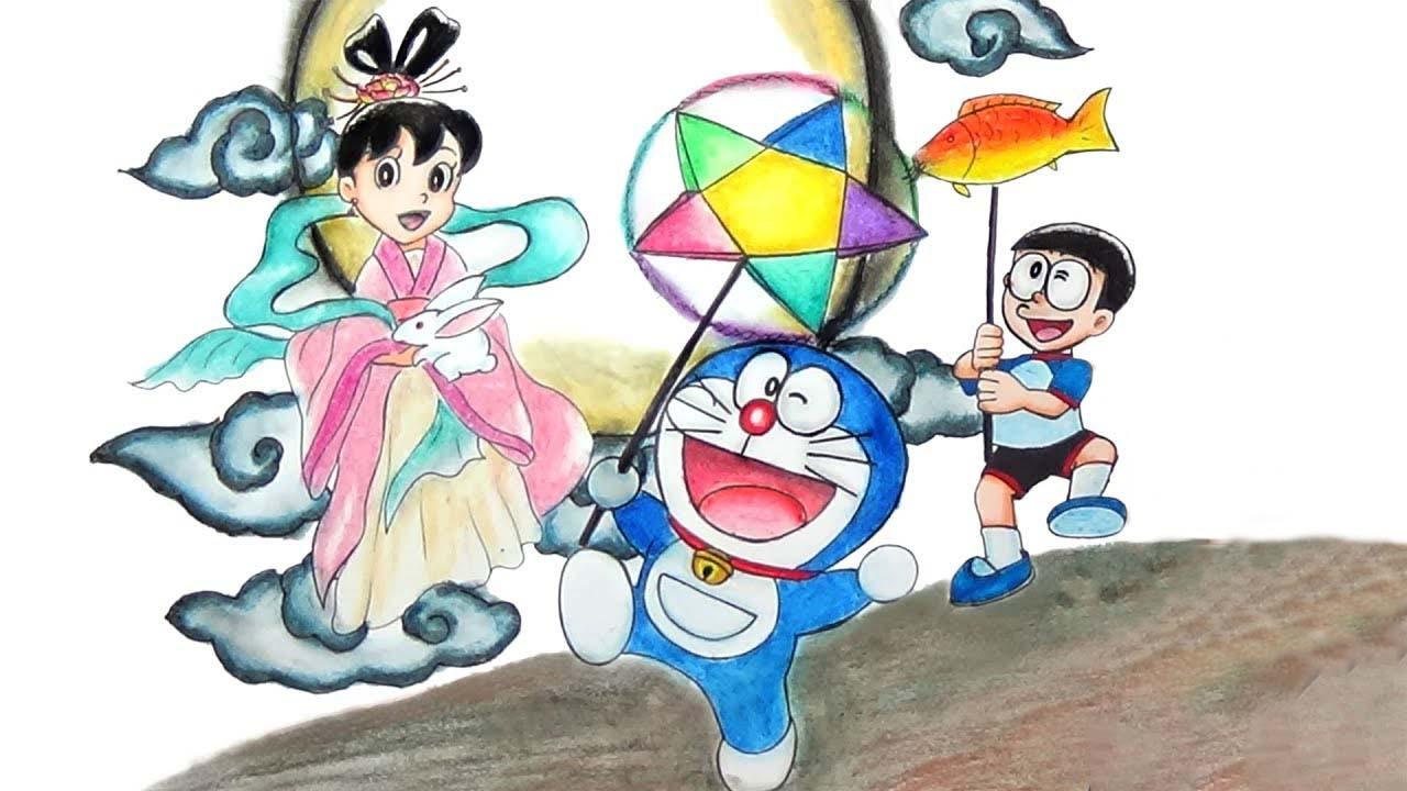 Hình vẽ doremon dễ thương