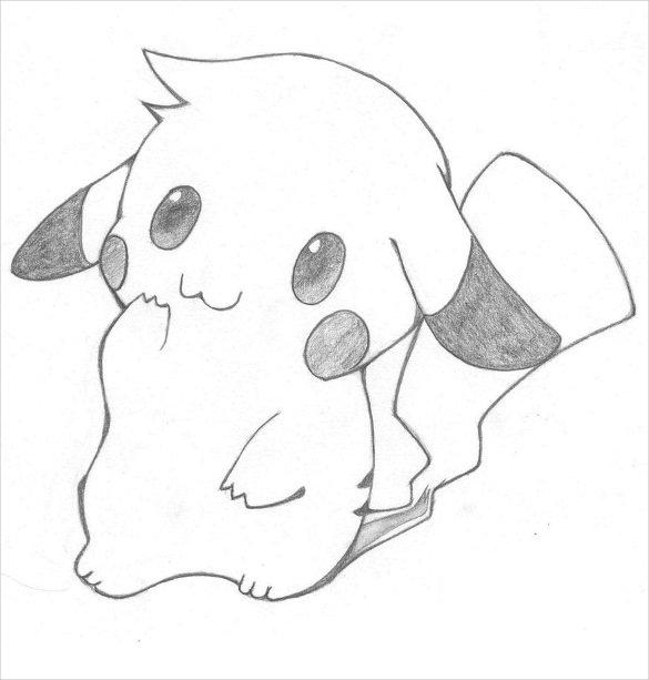 Hình vẽ pikachu dễ thương