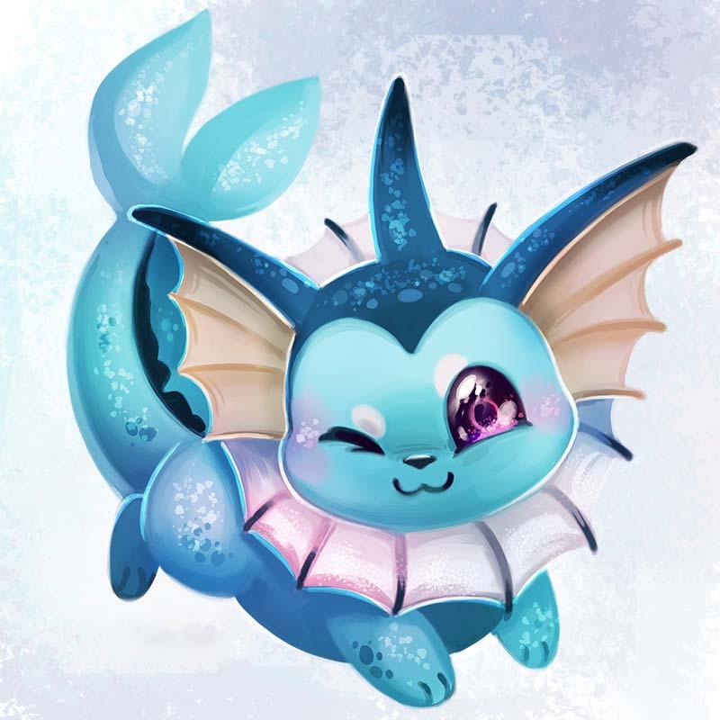 Hình vẽ pokemon dễ thương