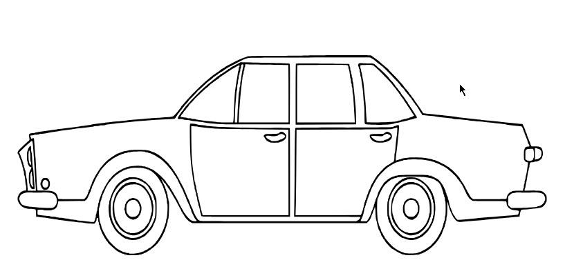 Hình vẽ tô màu ô tô