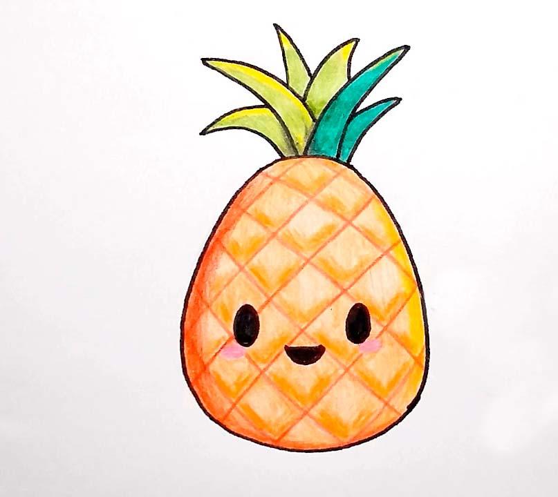 Hình vẽ trái cây dễ thương