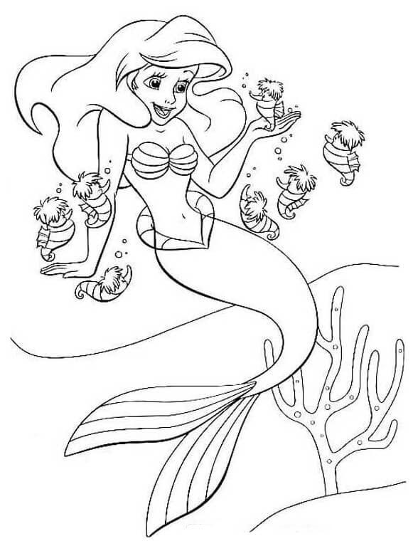 Tập tô màu nàng tiên cá đẹp cho bé tập tô
