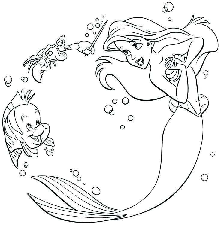 Tập tô nàng tiên cá đẹp cho bé