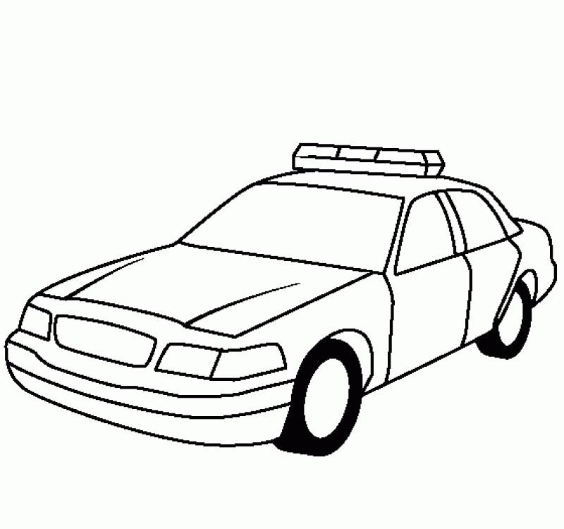 Tranh ô tô đơn giản cho bé tập tô