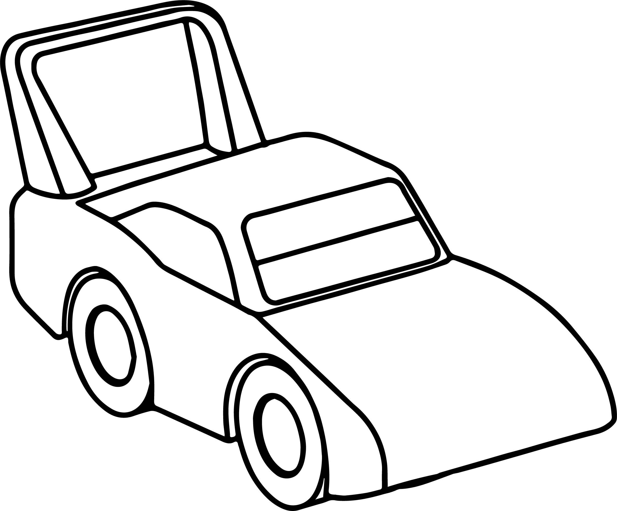 Tranh ô tô tô màu