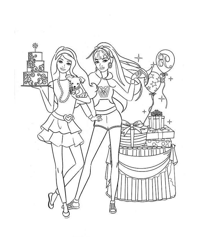 Tranh tập tô màu công chúa cho bé