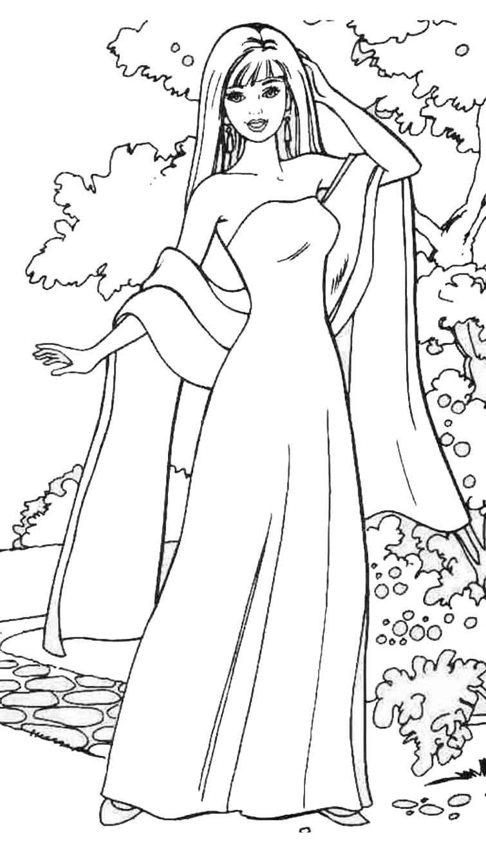 Tranh tập tô màu hình công chúa cho bé