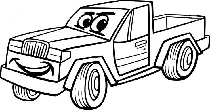 Tranh tập tô màu ô tô cho bé tập tô