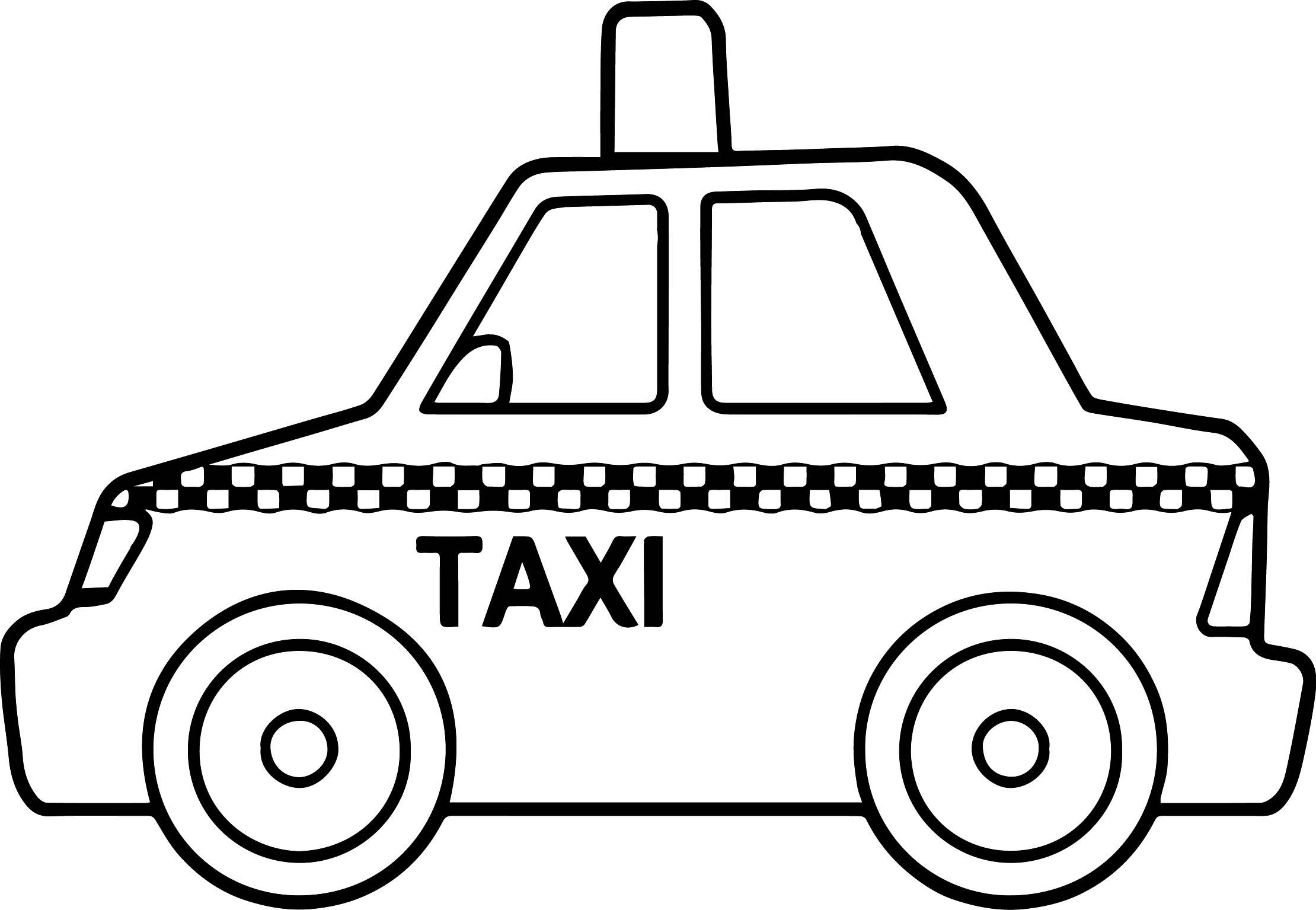 Tranh tập tô màu ô tô taxi