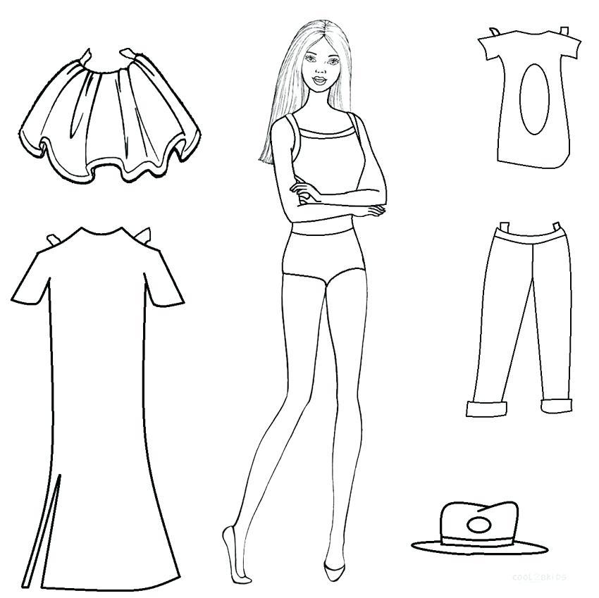 Tranh tô màu Barbie và quần áo