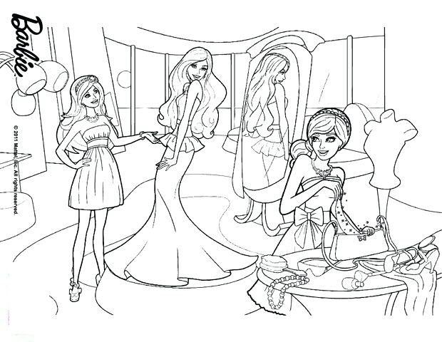Tranh tô màu công chúa Barbie đẹp nhất