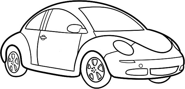 Tranh tô màu hình xe ô tô