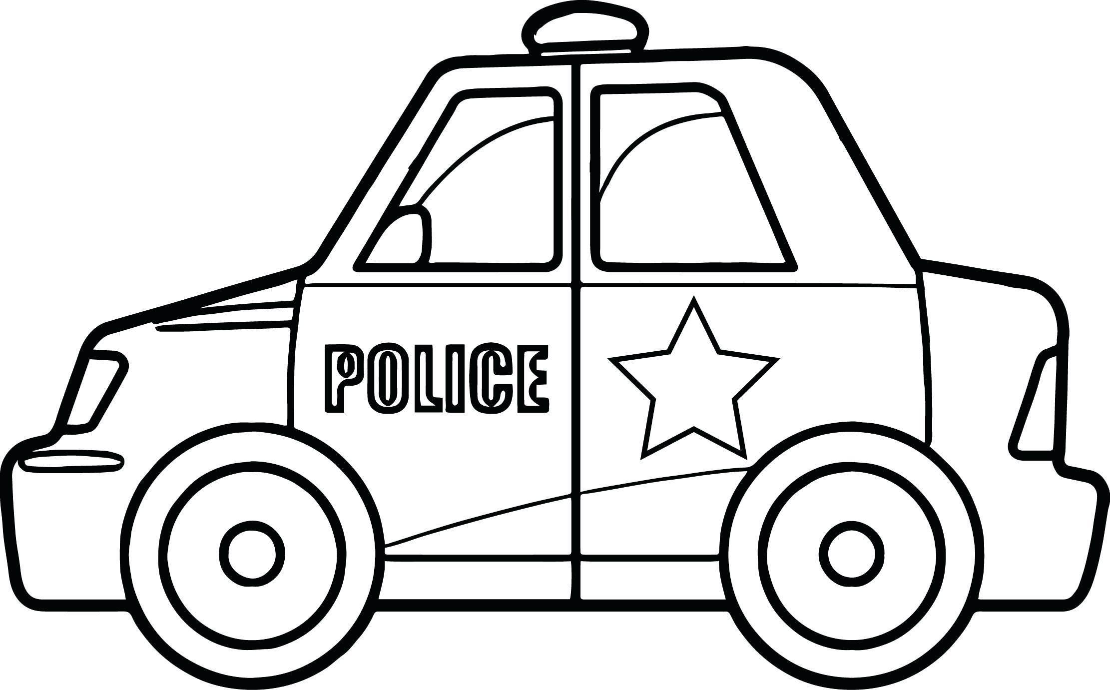 Tranh tô màu ô tô cảnh sát
