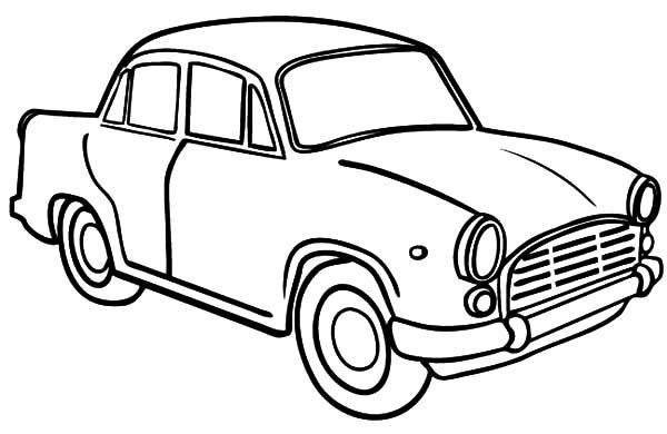 Tranh tô màu ô tô cho bé tập tô