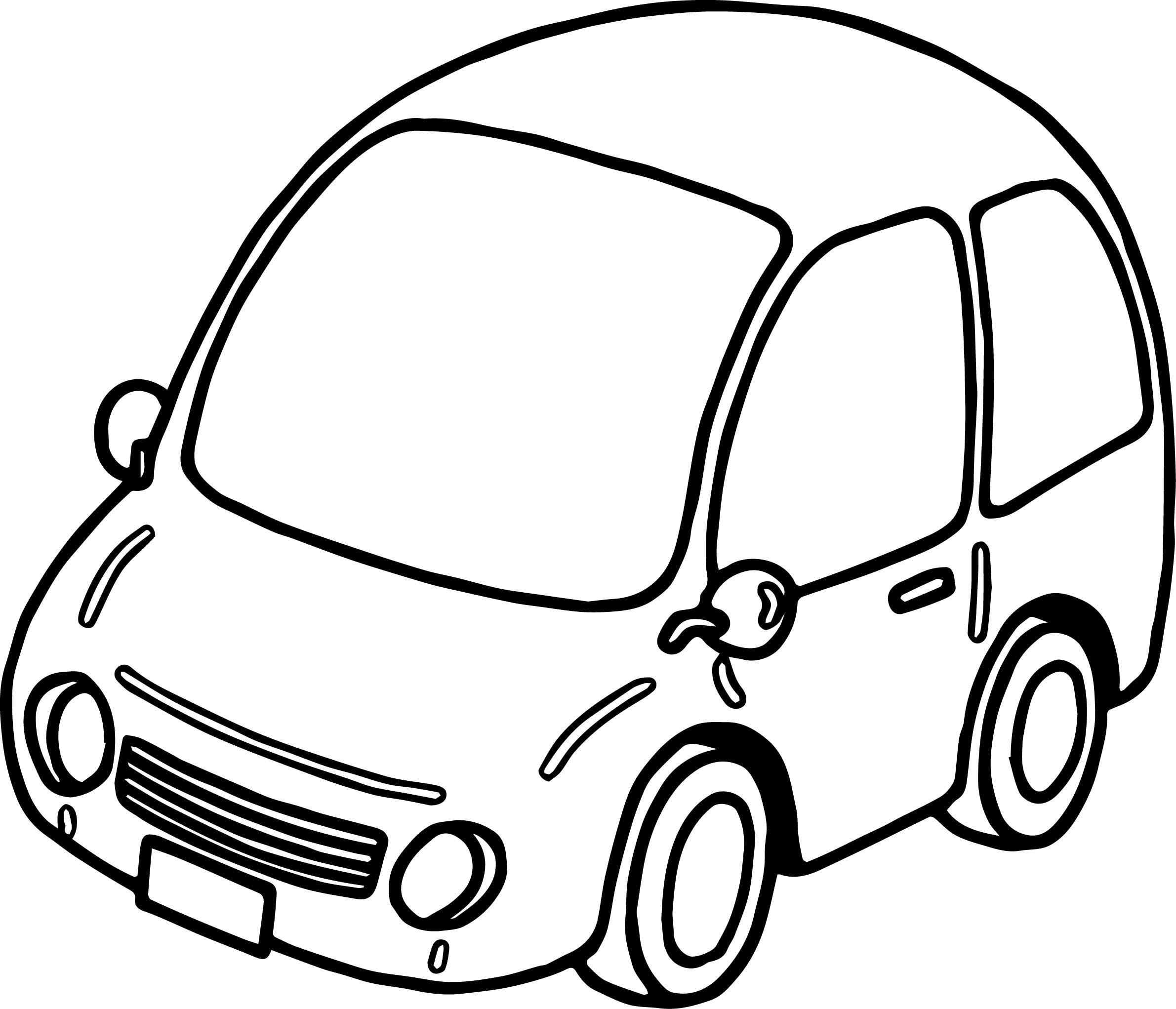 Tranh tô màu ô tô đẹp cho bé tập tô