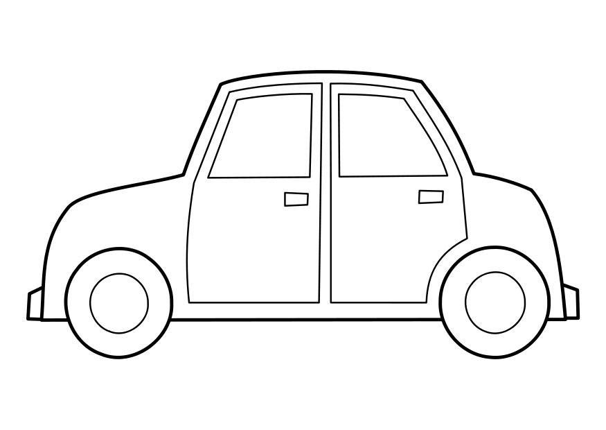 Tranh tô màu ô tô đơn giản cho bé